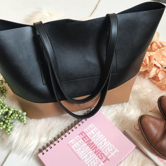 b9f3120c4baf a new day Handbags - Target Black   Chestnut Faux Leather Tote Bag